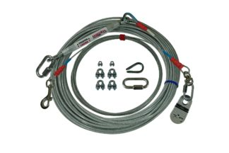 Freedom Aerial Dog Run Light Duty with Cable Lead Line