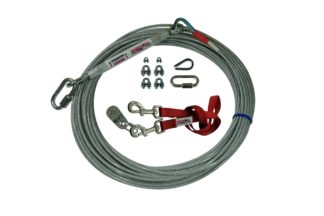 Freedom Aerial Dog Run Light Duty with Nylon Lead Line