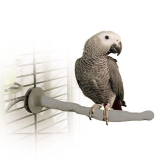 """K&H Pet Products Bird Thermo-Perch Gray 13"""" x 1.25"""" x 1.25"""""""
