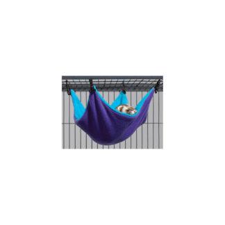 """Midwest Ferret Nation Hammock Hideaway Small Teal / Purple 14"""" x 12"""" x 6.5"""""""