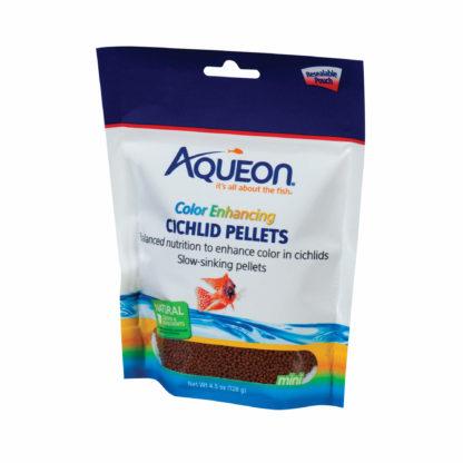 Aqueon Cichlid Color Enhancing Fish Food 4.5 ounces