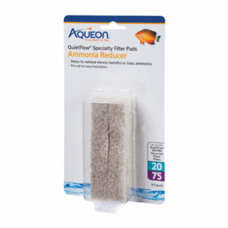 Aqueon Replacement Ammonia Reducer Filter Pads Size 20/75 4 pack