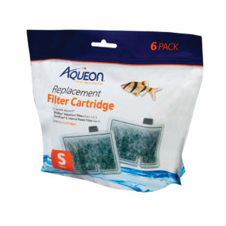 "Aqueon Replacement Filter Cartridges 6 pack Small 6.2"" x 2"" x 6.2"""