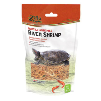 "Zilla Reptile Munchies River Shrimp 2 ounces 5.875"" x 2.75"" x 9.5"""