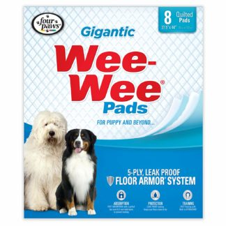 "Four Paws Wee-Wee Pads 8 pack Gigantic White 27.5"" x 44"" x 0.1"""