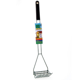 "Four Paws Wire Rake Scooper for Grass Black 5"" x 6.13"" x 29.5"""