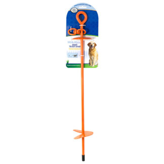 "Four Paws Giant Tie-Out Stake Orange 5.90"" x 4"" x 29"""