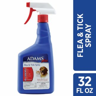 Adams Plus Flea and Tick Spray for Cats and Dogs 32 ounces