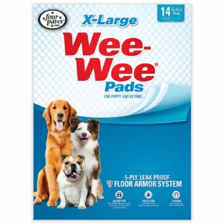 "Four Paws Wee-Wee Pads 14 pack Extra Large White 28"" x 34"" x 0.1"