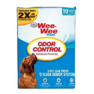 "Four Paws Wee-Wee Odor Control Pads 10 count White 22"" x 23"" x 0.1"""