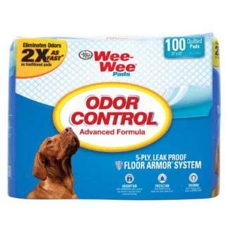 "Four Paws Wee-Wee Odor Control Pads 100 count White 22"" x 23"" x 0.1"""