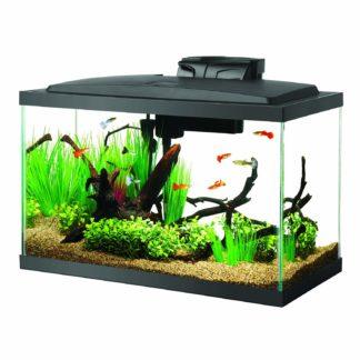 "Aqueon 10 Gallon LED Aquarium Kit Black 20.2"" x 10.5"" x 13.3"""