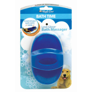 Four Paws Magic Coat Love Glove Bath Massager Blue