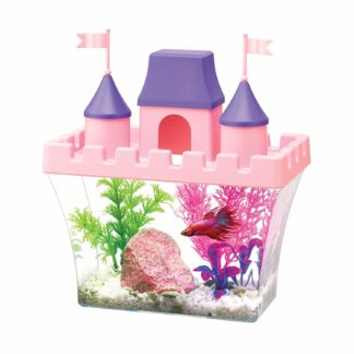 "Aqueon Princess Castle Aquarium Kit 0.5 Gallon Pink 8.2"" x 4.8"" x 8.5"""