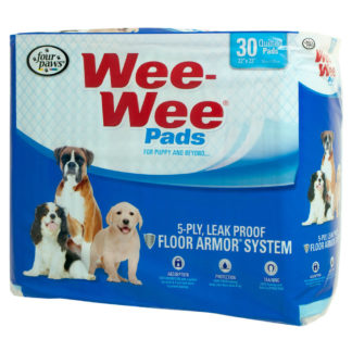 "Four Paws Wee-Wee Pads 30 pack White 22"" x 23"" x 0.1"""