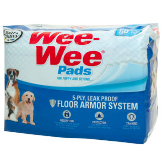 "Four Paws Wee-Wee Pads 50 pack White 22"" x 23"" x 0.1"""
