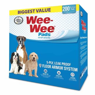"Four Paws Wee-Wee Pads 200 pack White 22"" x 23"" x 0.1"""