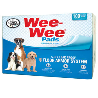 "Four Paws Wee-Wee Pads 100 pack box White 22"" x 23"" x 0.1"""