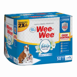 "Four Paws Wee-Wee Odor Control with Febreze Freshness Pads 50 count White 22"" x 23"" x 0.1"""