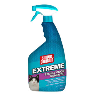 "Simple Solution Extreme Cat Stain and Odor Remover 32oz 2.9"" x 4.8"" x 10.75"""