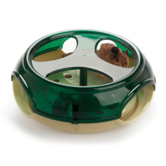 "Our Pets Play-N-Squeak Thrill of the Chase Green / Taupe 9"" x 9"" x 3.5"""