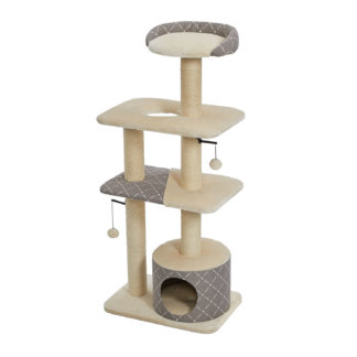 "Midwest Feline Nuvo Tower Car Furniture Mushroom 22"" x 15"" x 50.5"""