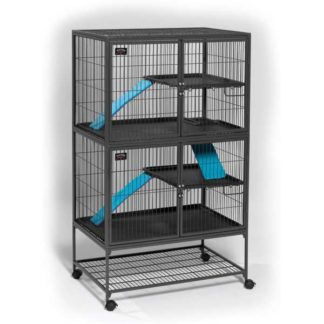 "Midwest Ferret Nation Double Unit Cage Gray 36"" x 25"" x 62.5"""