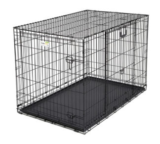"Midwest Ovation Double Door Crate with Up and Away Door Black 49.00"" x 31"" x 32.25"""