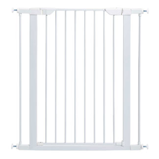 "Midwest Glow in the Dark Steel Pressue Mount Pet Gate Tall White 29.5"" - 38"" x 1"" x 29.88"""