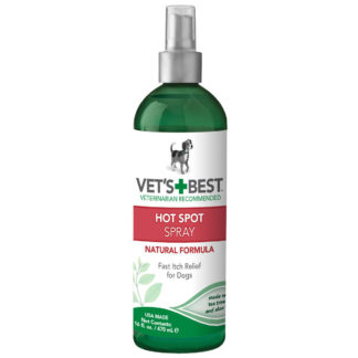"Vet's Best Hot Spot Dog Skin Care Spray 16oz Green 2.45"" x 2.45"" x 8"""