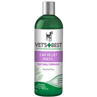 "Vet's Best Dog Ear Relief Wash 16oz Green 2.5"" x 2.5"" x 8.5"""