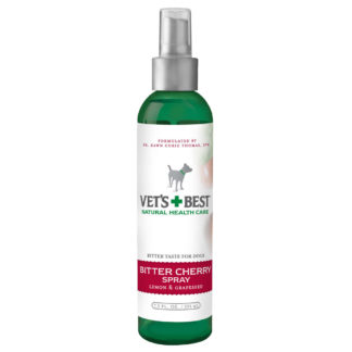 "Vet's Best Bitter Cherry Dog Deterrent Spray 7.5oz Green 2"" x 2"" x 7.25"""