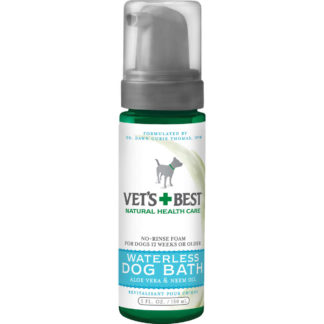 "Vet's Best Waterless Dog Bath 5oz Green 1.88"" x 1.88"" x 6.88"""