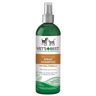 "Vet's Best Pet Anti-Flea Easy Spray Shampoo 16oz Green 2.38"" x 2.38"" x 8.75"""