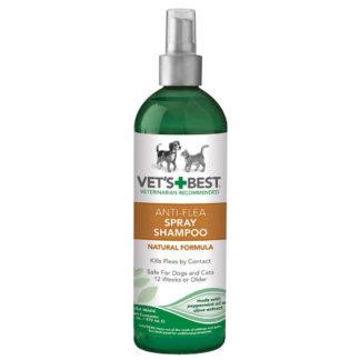 "Vet's Best Pet Anti-Flea Easy Spray Shampoo 16oz Green 2.38"" x 2.38"" x 8.75"""