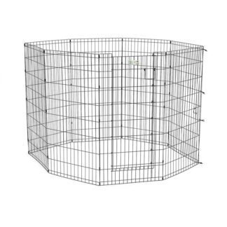 "Midwest Life Stages Pet Exercise Pen with Door 8 Panels Black 24"" x 42"""