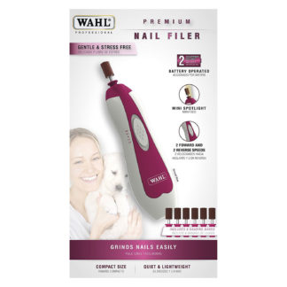 "Wahl Premium Nail Filer Purple 6"" x 1.5"" x 1.5"""