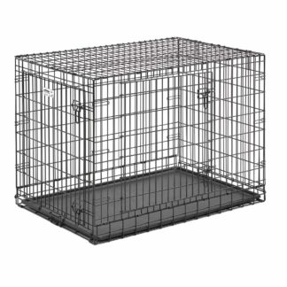 "Midwest Ultima Pro Double Door Dog Crate Black 43"" x 28.50"" x 31.50"""
