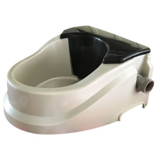 "RPI Aqua Buddy Automatic Float Waterer 2 quart Silver / Black 11"" x 10"" x 5.5"""