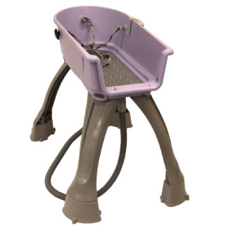 "Booster Bath Elevated Dog Bath and Grooming Center Flat Rate Shipping Medium Lilac 33"" x 16.75"" x 10"""