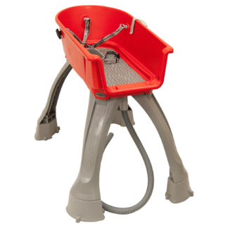 "Booster Bath Elevated Dog Bath and Grooming Center Medium Red 33"" x 16.75"" x 10"""