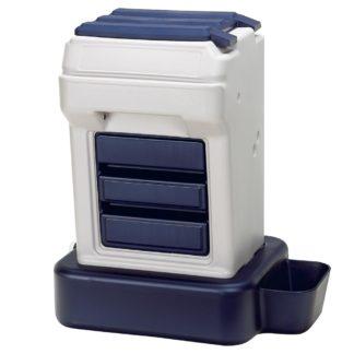 "Bergan K-9 Cafe Tray Pack Pet Food Dispenser Gray / Blue 26"" x 23.25"" x 15"""