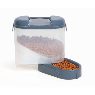 "Bergan Pet Travel Feeder Blue 11.5"" X 11.5"" X 6.3"""