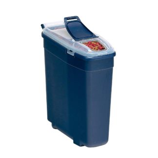 "Bergan Pet Food Smart Storage Medium Blue 18"" x 7"" x 17"""