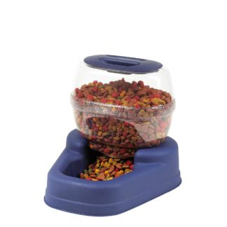 "Bergan Petite Gourmet Pet Feeder Small Blue 13"" x 11.5"" x 11.25"