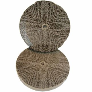 "Bergan Cat Turboscratcher Replacement Pad 2 pack Brown 10.25"" x 10.25"" x 3.75"""