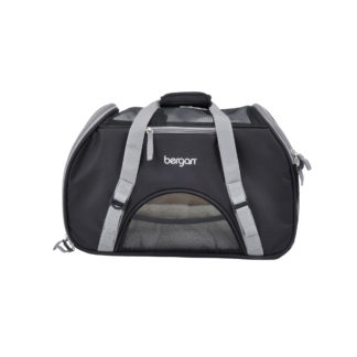 "Bergan Pet Comfort Carrier Large Black / Brown 19"" x 10"" x 13"""