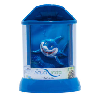 "BioBubble 3D Background for AquaTerra 2 Gallon Blue 9"" x 9"" x 12"""
