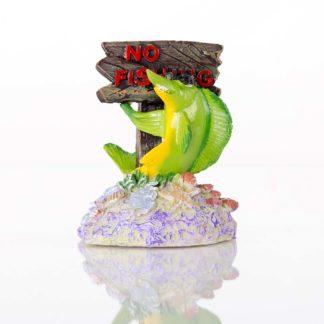 "BioBubble Decorative No Fishing Sign 3"" x 2.75"" x 4"""