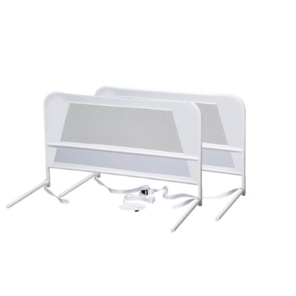 Kidco Children's Mesh Bed Rail Telescopic Double Pack White